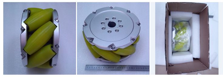A set of 10inch (254mm) heavyduty industrial mecanum wheel (Load cacipity 1500KG) NM254A. Nexus Industry Omni wheel&Mecanum wheel is heavy load Omni wheel