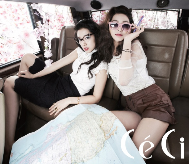 Ceci May Issue. Loving the spring look, the lace, the hair, the makeup, the GLASSES, the lips! Spring has sprung!