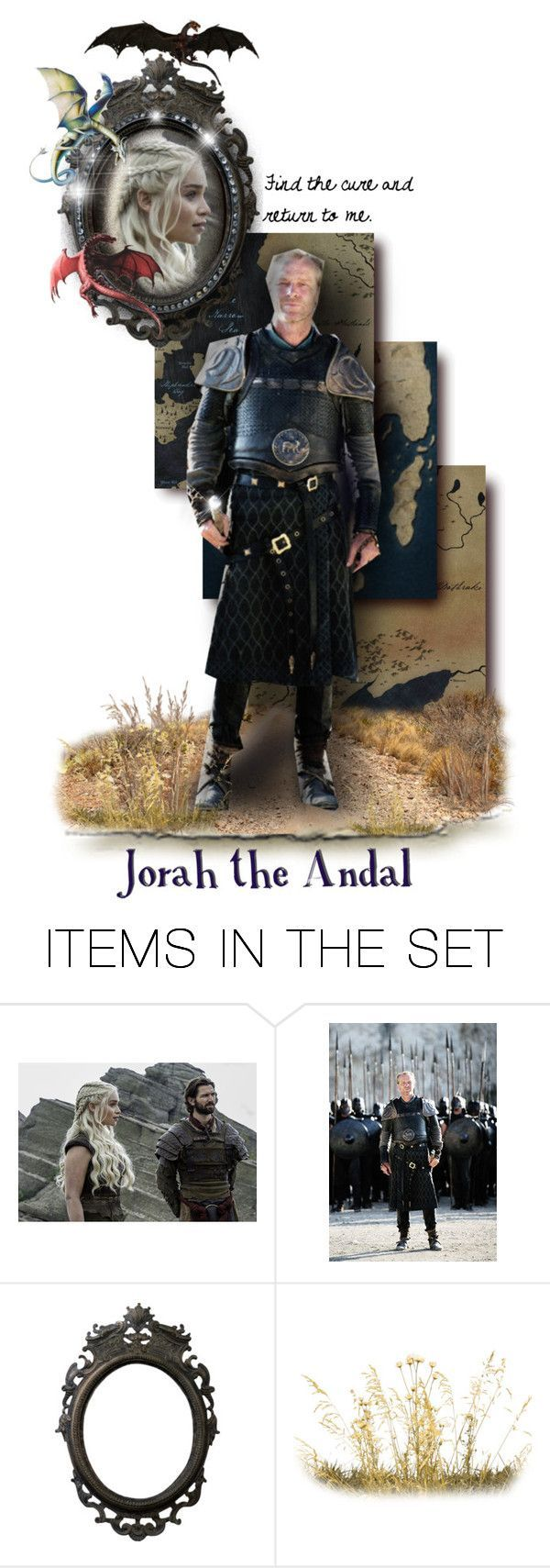 """Jorah the Andal"" by annette-heathen ❤ liked on Polyvore featuring art, GameOfThrones, housetargaryen, jorahmormont and GOTDolls"