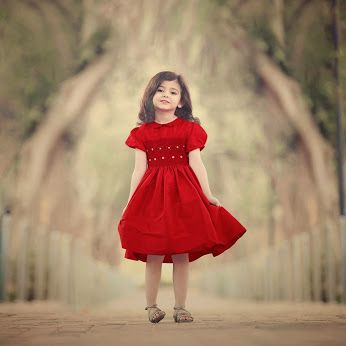 Rand models Annafie's Hand-Smocked Red Silk Dress. http://www.childrensalon.com/hand-smocked-red-silk-dress.html  #Annafie #girls #dress