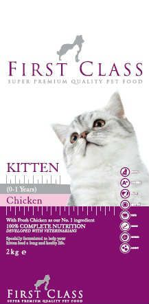 Fırst Class Kitten With Chicken Tavuklu Yavru Kedi Maması 2kg   http://www.avistanbul.com.tr/asp/product/62660/First-Class-Adult-With-Lamb-Rice-Etli-Kedi-Mamasi-2kg
