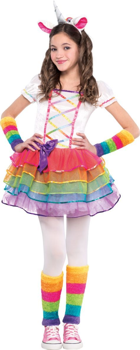 Girls Rainbow Unicorn Costume - Party City                                                                                                                                                     More