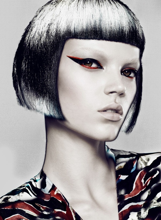 Flare September 2012 Beauty Editorial by Chris NichollsFashion, Makeup Trends, Chris Nichols, Beautiful Editorial, Hairmakeup, Style Icons, Bobs Hair Style, Hair Makeup, September 2012