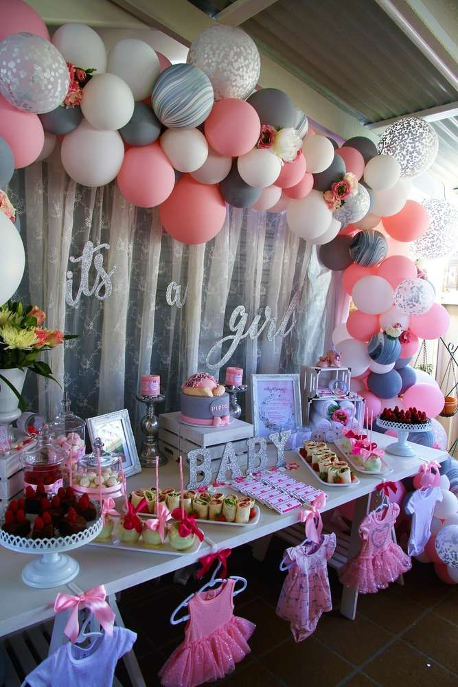 Buttons And Bows Baby Shower Party Ideas Bow Baby Shower