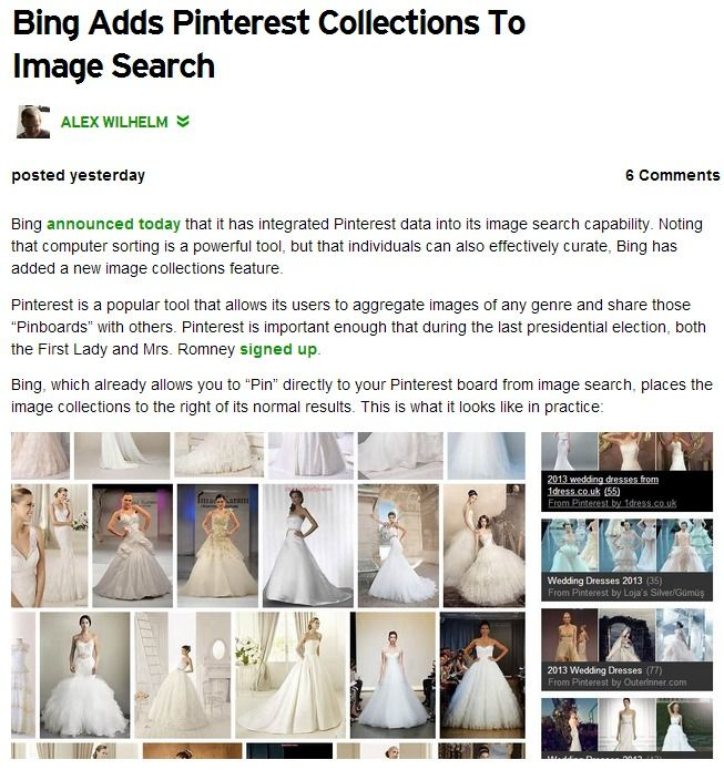 Bing Adds Pinterest Collections To Image Search