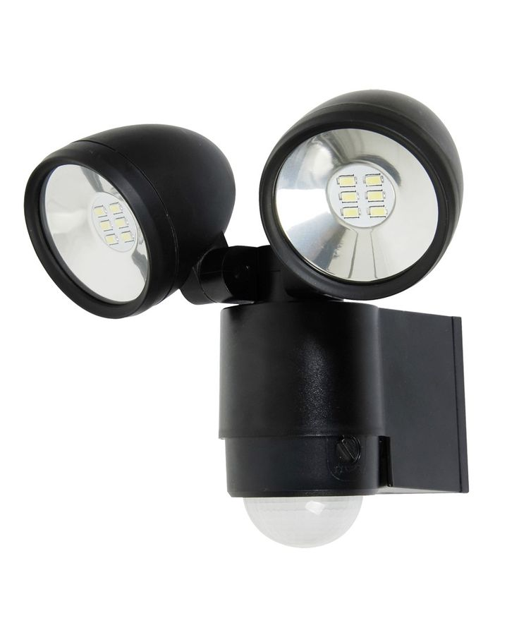 63 best outdoor lights images on pinterest exterior lighting beacon lighting ledlux helley ii twin led spot light with sensor in black with adjustable head mozeypictures Images
