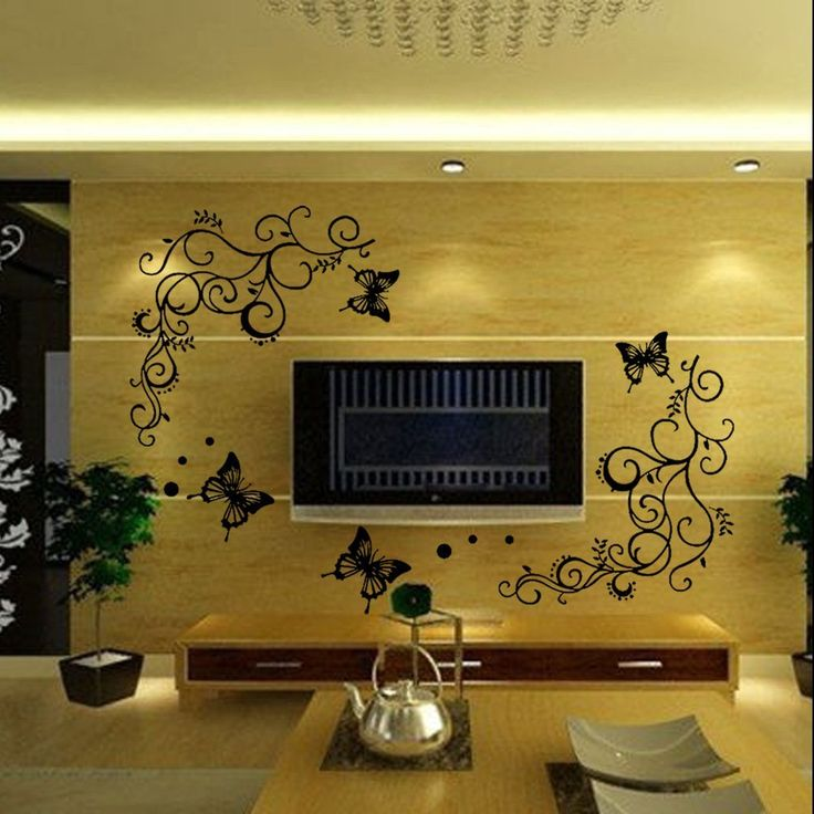 Christmas Gift Beautiful Vivid Tree Leaves Big Butterfly Removable Mural Wall Stickers Decal for Home Television Background Wall Beautiful Vivid Tree Leaves Big Butterfly High-quality die-cut vinyl, durability, waterproof, general can keep 3-5 years! Easily removed and will not damage walls....