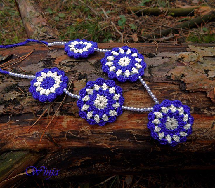 Crochet jewelry crochet necklace cotton jewelry cotton