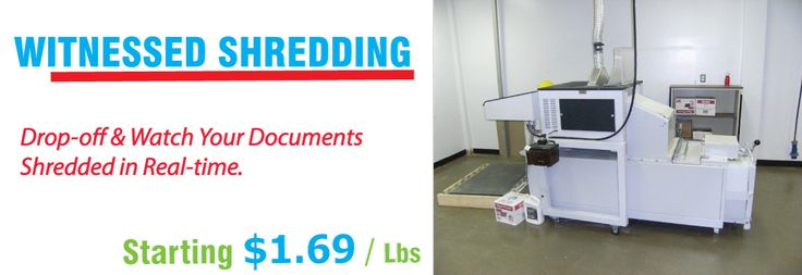Witnessed Document Shredding Service  Nothing can put your mind at ease more than watching your confidential documents shredded in front of you! Neighborhood Parcel Shredding Service Center has been servicing Southern New Hampshire for over a decade. We served a large client-base and homeowners that were very happy to trust us