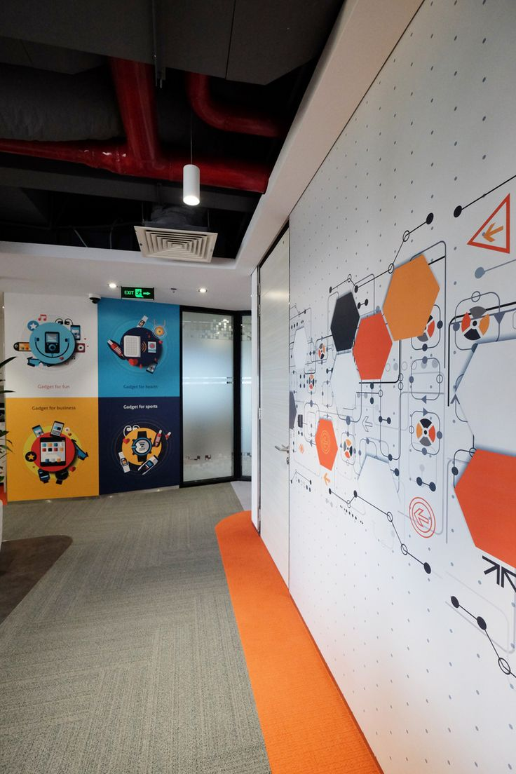 Office Wall Graphics Designed Printed And Installed In Corridor Area.  Https://www