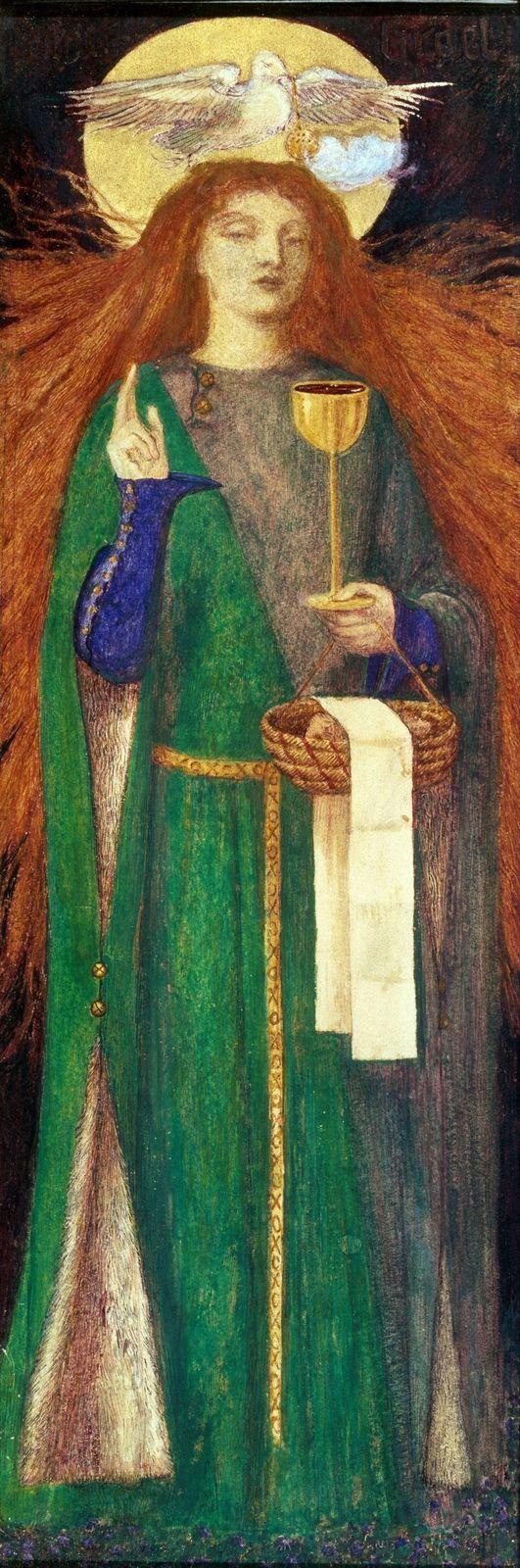 Данте Габриэль Россетти (Dante Gabriel Rossetti), 1828-1882. Англия. Акварель | Изобразительное искусство