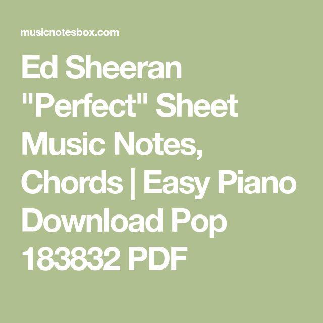 Perfect Ed Sheeran Piano Sheet Music With Lyrics: Best 25+ Pop Sheet Music Ideas On Pinterest