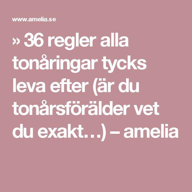 » 36 regler alla tonåringar tycks leva efter (är du tonårsförälder vet du exakt…) – amelia