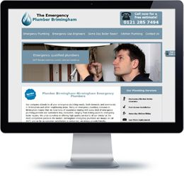 The Emergency Plumber website built with PHP/HTML, JQuery.