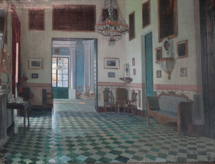 The Athenaeum - Interior of the Palace of Víznar (Santiago Rusiñol Prats - )