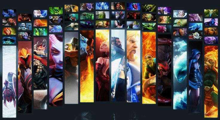 Defense of the Ancients Dota 2 Heroes Art Poster