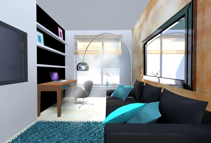 work room - guest room | home decor | interior design | vizualisation