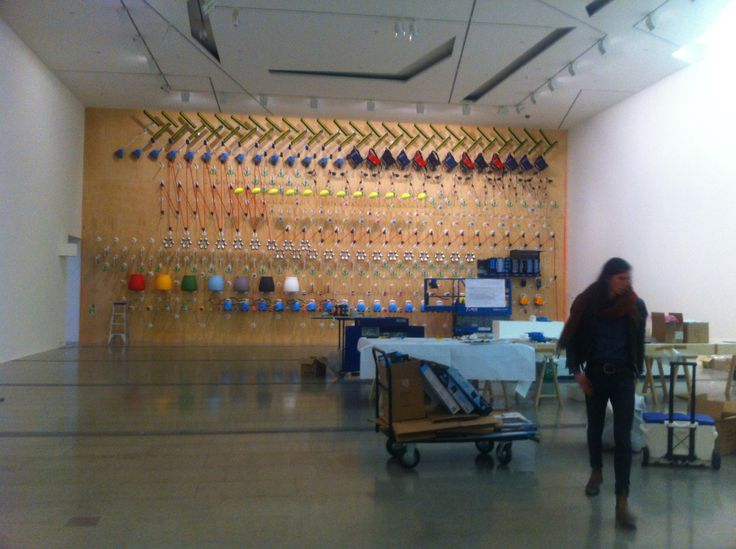Installing the Design Wall #MelbourneNow NGV Australia Curated by Simone LeAmon exhibition design Carter LeAmon