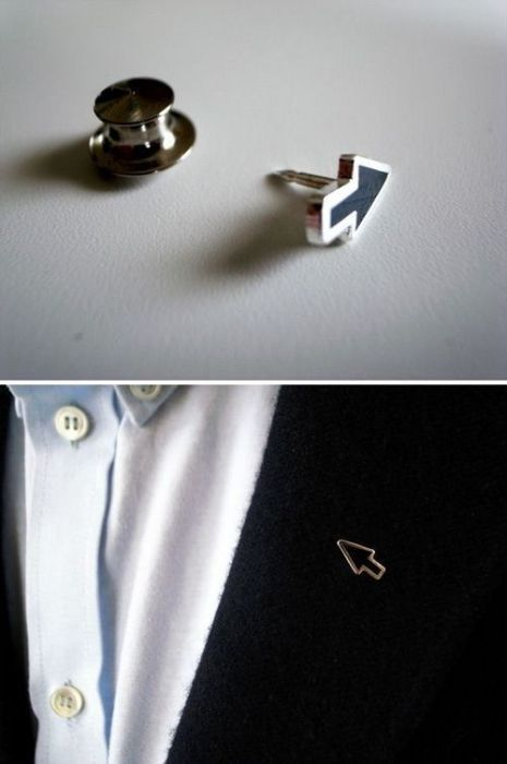arrow, lapel pin