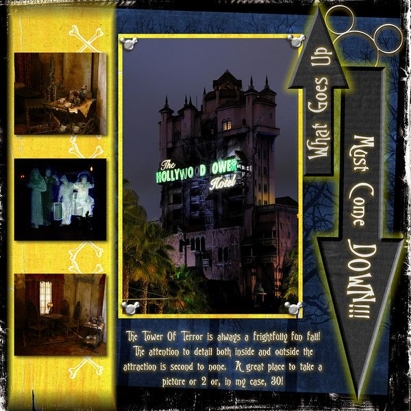 Tower of Terror ... what goes up MUST come down!!!: Layout Ideas, Towers Of Terror, Scrapbook Disney, Scrapbook Pages Layout, Disney Layout, Scrapbook Layout, Disney Scrapbook, Disney Theme, Disney Towers