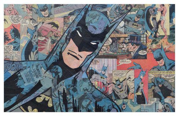 Batman 2 Print 11x17 by ComicCollageArt on Etsy