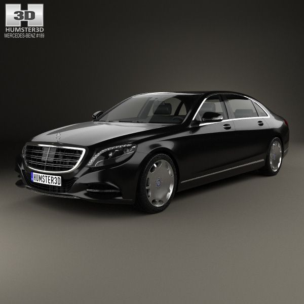 Mercedes-Benz S-class (W222) Maybach 2016 3d model from humster3d.com. Price: $75