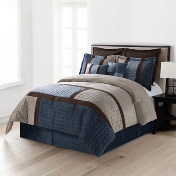 Home Classics Legion 8 Pc Microplush Comforter Set 150