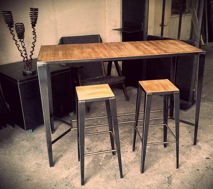 25 parasta ideaa pinterestiss table haute bar table - Table de bar cuisine ...