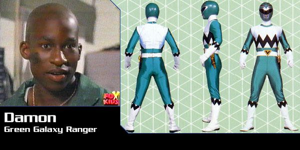 Damon Henderson (Green Galaxy Ranger) - Power Rangers Lost Galaxy   Power Rangers Central