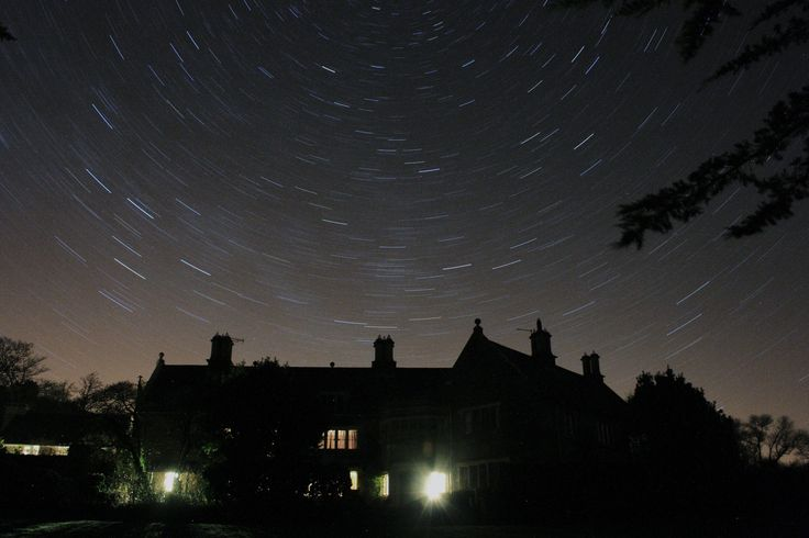 Stars over Norburton Hall - the night sky in winter.