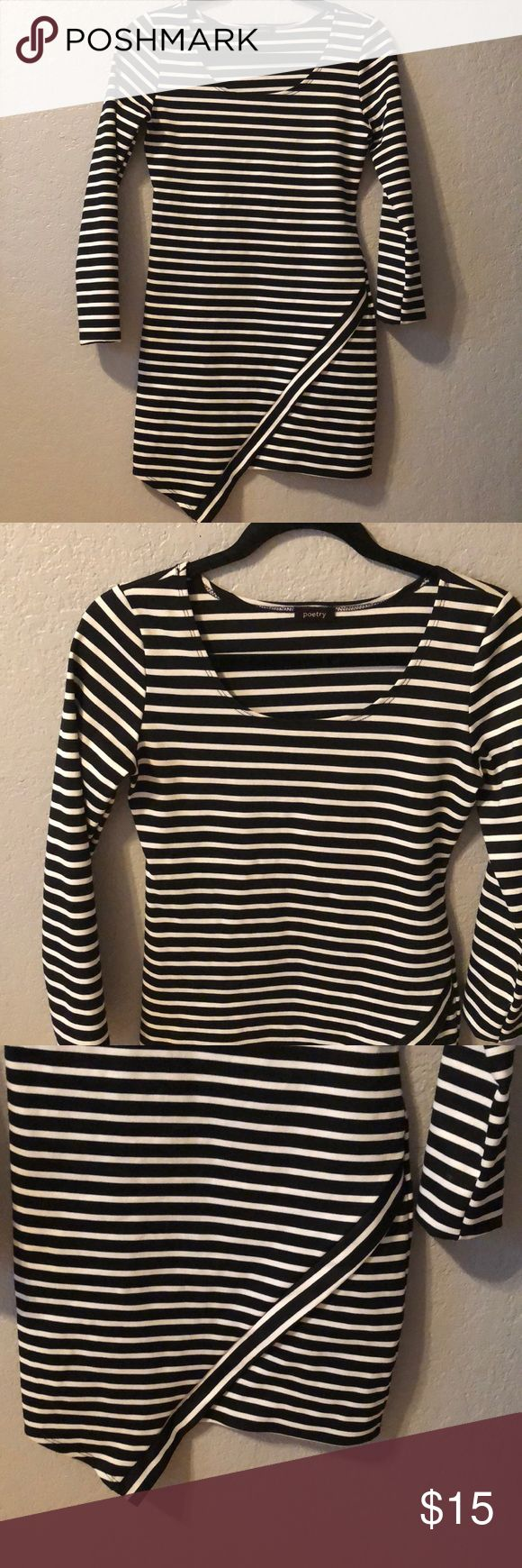 Black and white striped long sleeve dress Black and white striped long sleeve dress. Worn 2 times in amazing condition. Dresses