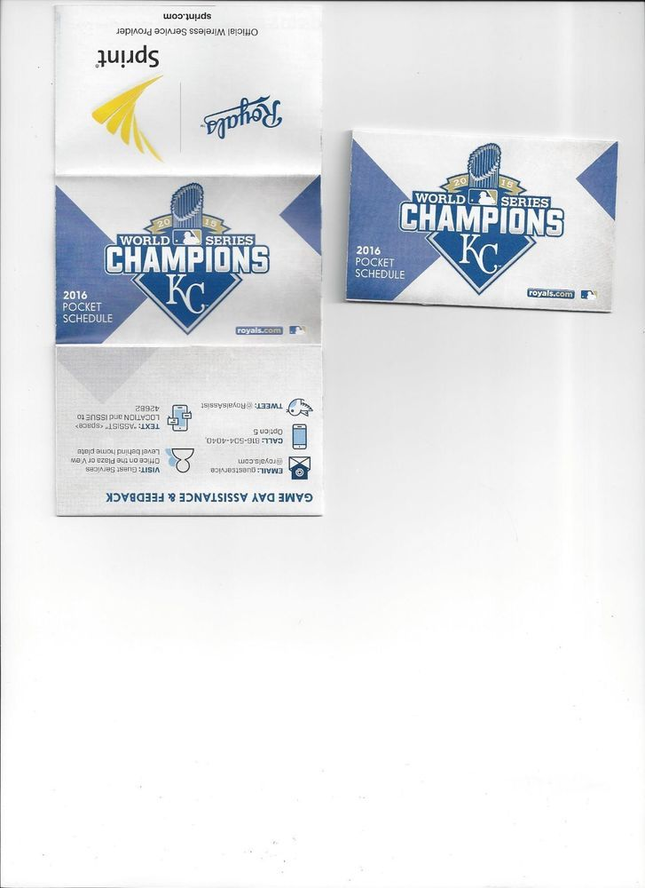 THREE 2016 KC ROYALS WALLET POCKET MLB SCHEDULES 2015 WORLD SERIES CHAMPIONS 3 #KansasCityRoyals