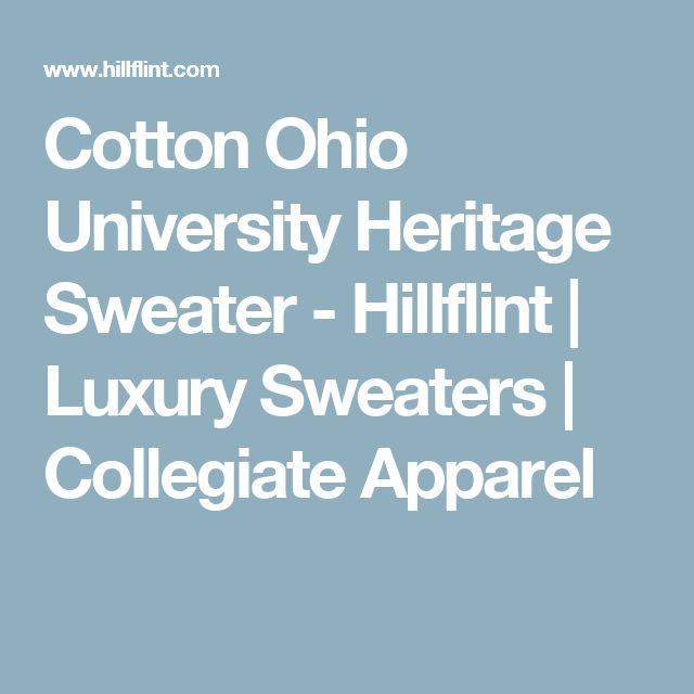 Cotton Ohio University Heritage Sweater - Hillflint   Luxury Sweaters   Collegiate Apparel