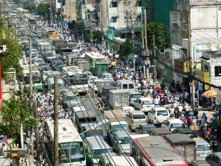 Traffic congestion in Ho Chi Minh City, Vietnam-..beep beep beep beep crazy fun city!