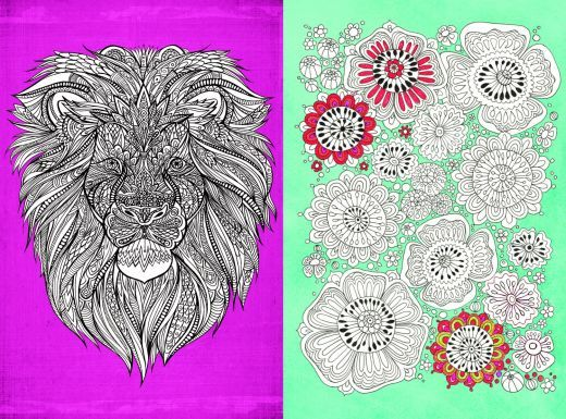 6 Colour Therapy Colouring In Pages