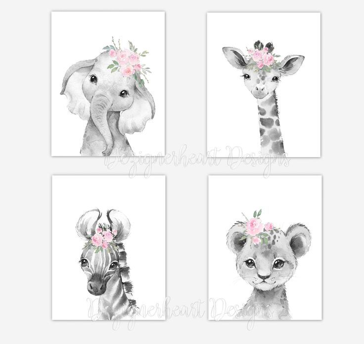 Safari Animals Baby Girl Nursery Wall Art Nursery Canvas Wall Etsy Baby Girl Nursery Art Nursery Art Girl Nursery Wall Art Girl