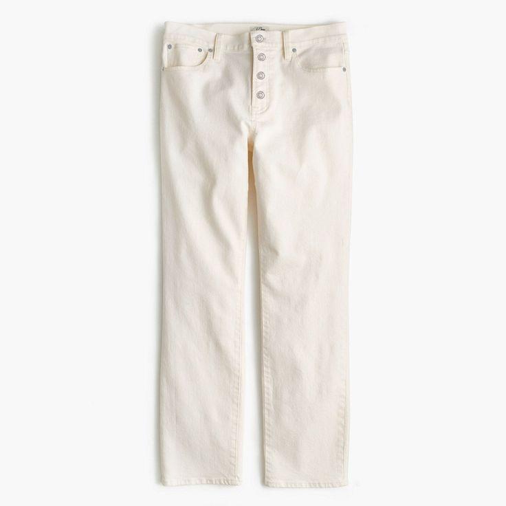 J.Crew Womens Tall Vintage Crop Jean In Ecru