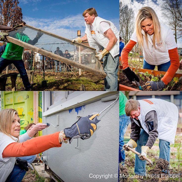 """263 Me gusta, 4 comentarios - Queen Maxima (@queen.maxima) en Instagram: """"10-03-2017 Koning Willem-Alexander en Koningin Maxima doen vrijwilligerswerk in Buurttuin Breda…"""""""