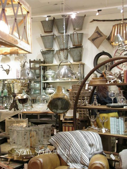 Savvy Southern Style: High Point Part One :: Look at all the fun stuff! And all the olive buckets ... Oh, the goodies! Mmmm, I need to go there ...