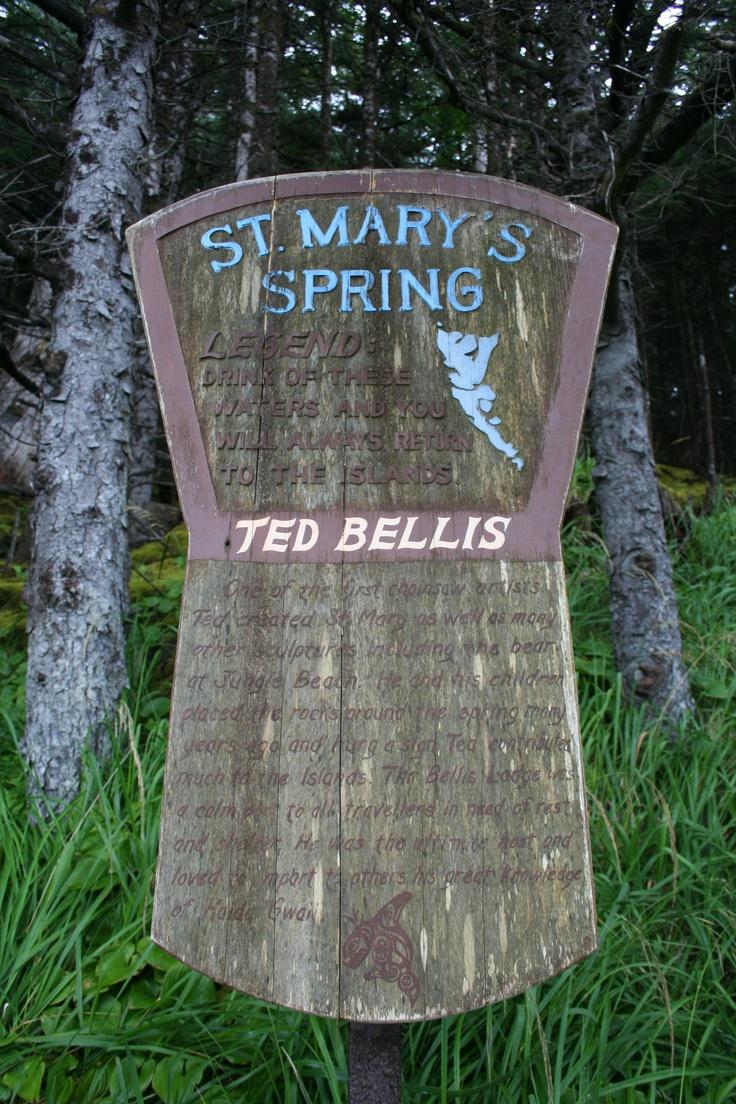 St. Mary's Spring on Haida Gwaii. photo credit: kayla bailey