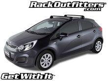 Kia Rio Hatchback Rhino Rack 2500 RS Vortex Aero BLACK Roof Rack U002712 U002715