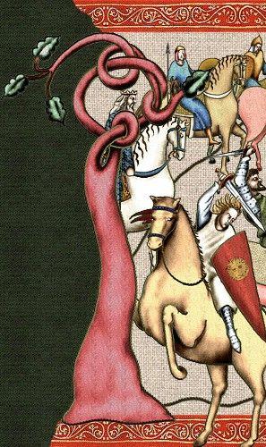 La Chanson de Roland, tapestry-like representation