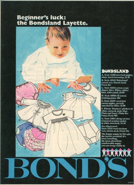 A beauty from our archives! The Bondsland Layette was published in The Australian Women's Weekly, November 19 1969.