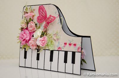 pretty piano - I've got to assume this is a card that you would hand deliver as oppose to mail?? I like it, though!