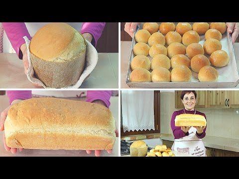 Ricetta 3 in 1 Panettone Gastronomico - Panini al Latte - Pane in Cassetta - YouTube