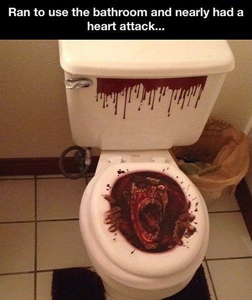 Scary Toilet Seat Cover Funnies Pinterest Seat