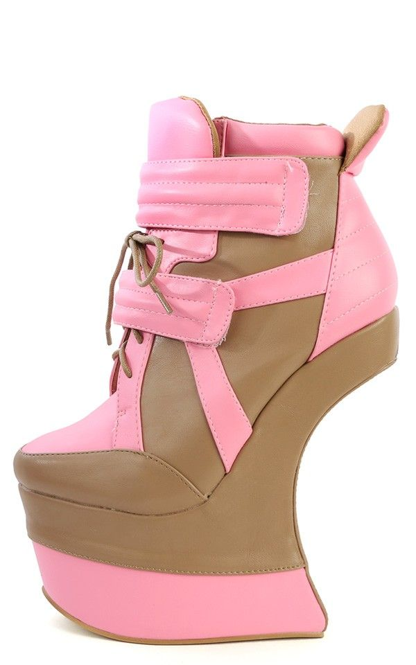 Matilda Two Tone Heel Less Wedges TAUPE PINK