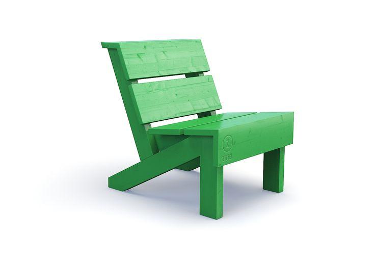 Zittel loungestoel.  Door de lage zithoogte kun je heerlijk relaxed onderuit Zittelen. Met handig afzetrandje voor je kopje of boek. Lekker alleen een boek lezen of muziek luisteren. Deze Zittel© is een perfecte combinatie met de loungebank en de loungetafel.