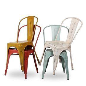 Sedia design tolix sedie vintage lamiera metallo stile for Sedia design vintage