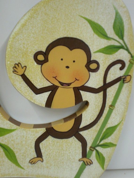 Jungle Friends Personalized Nursery Decor Wall Letters